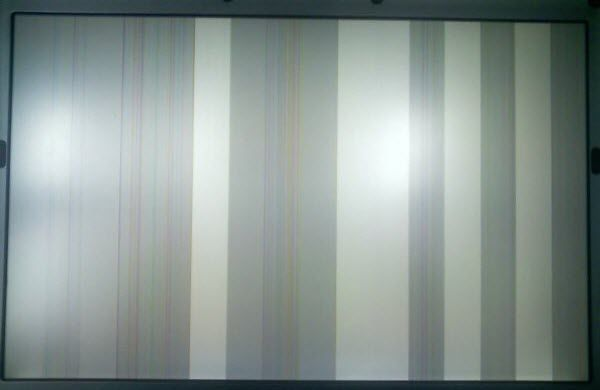 If you see horizontal or vertical lines on your laptop