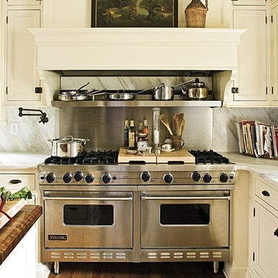 LOVE this range mantel...from Southern Living Kitchen