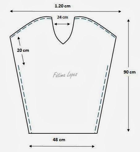 Módní Šablony pro měření: šaty / tunika s V výstřihem