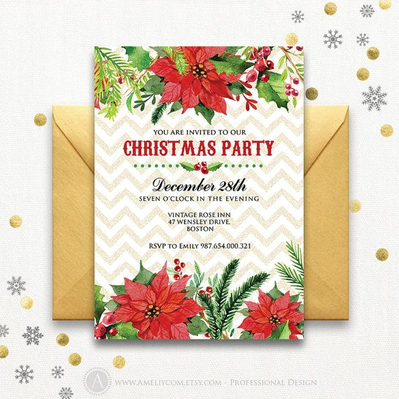 The 25+ best Christmas party invitation template ideas on - free christmas invitations printable template