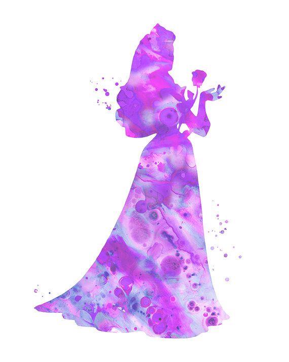 Purple Sleeping Beauty Sleeping Beauty art by FluidDiamondArt