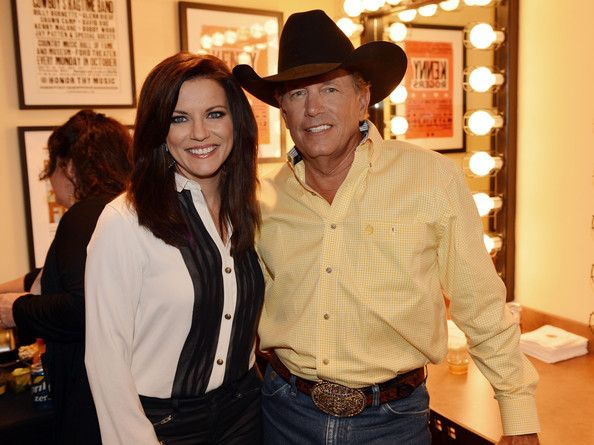 Martina McBride and George Strait during Country Superstar George Strait announces The Cowboy Rides Away 2012-2014 final tour on September 26, 2012 at The Country Music Hall of Fame and Museum/Ford Theater in Nashville, Tennessee.  (September 25, 2012 - Source: Rick Diamond/Getty Images North America)