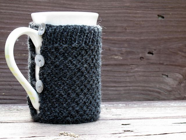 Knitting Pattern For Mug Holder : 12 best images about knitted cup cozies on Pinterest ...