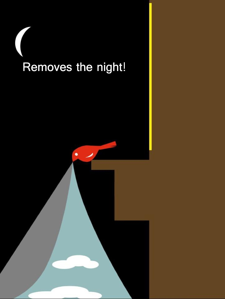 Removes the night