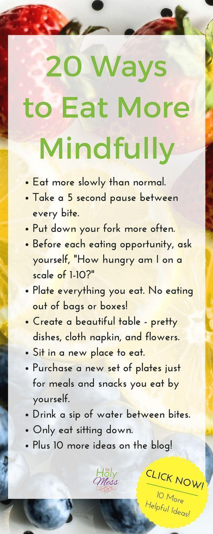 20 Möglichkeiten, aufmerksamer zu essen – Abneh…