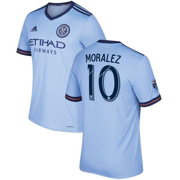 Maximiliano Moralez New York City FC adidas 2017 Primary Replica Jersey - Light Blue - $114.99