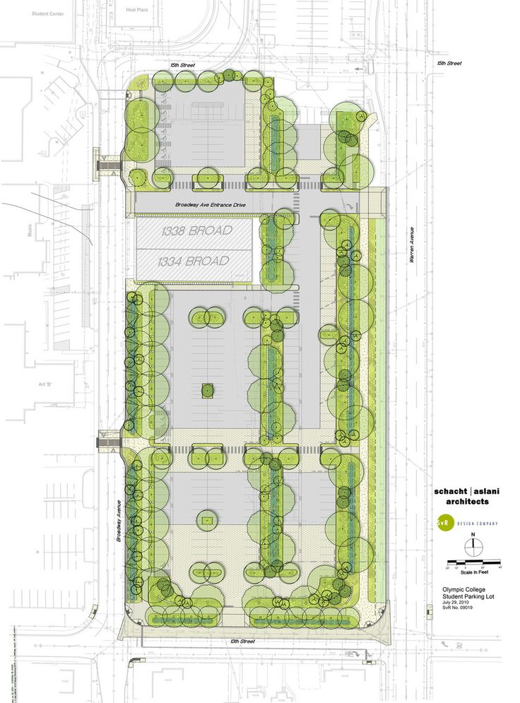 Olympic College Student Parking illustrative plan