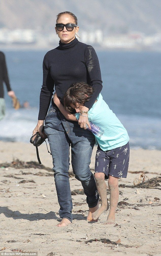 Family life: Jennifer Lopez enjoyed some well-deserved time off with her nearest and deare...