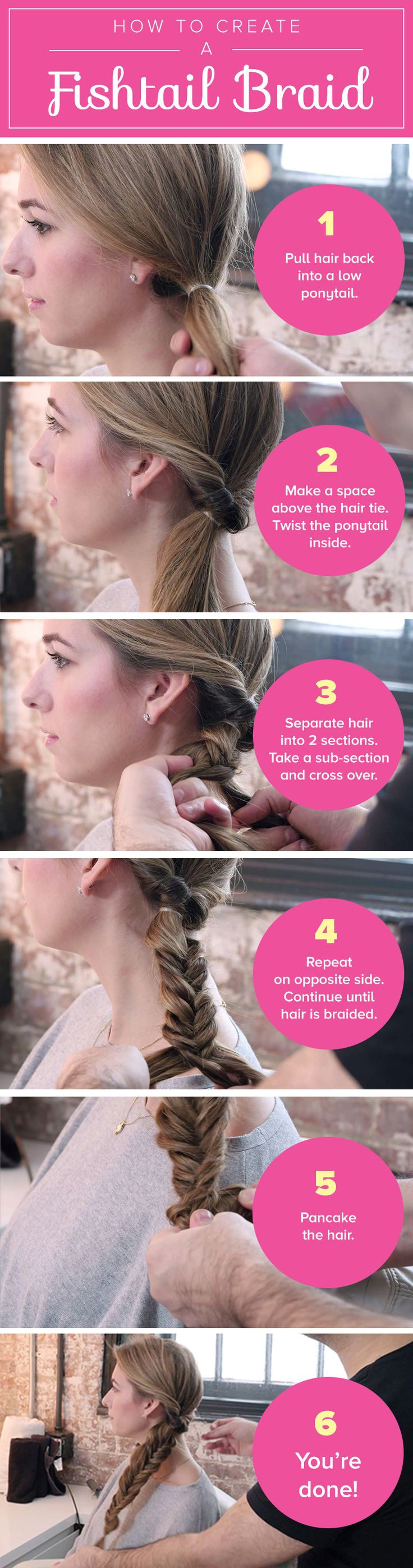 Up your style in five easy steps with this romantic fishtail braid.