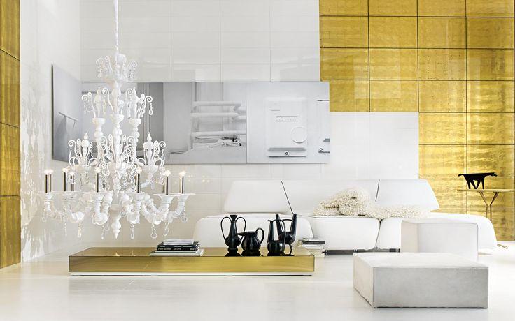 South Scandinavian style gold and white living room, Arte Della Vita. http://www.kenisahome.com/blog