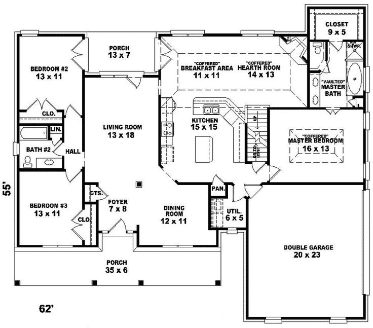 13 best home plans with keeping room images on pinterest for House plans and more com home plans