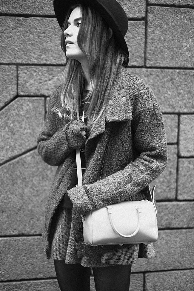 saint laurent hat and bag, second female jacket