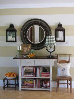 Love the stripes on the wall. cherylng lagreca ……