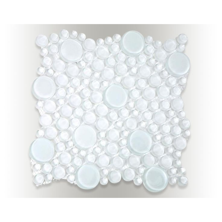 Shop 12x12 Loft Super White Random Circles In Polished