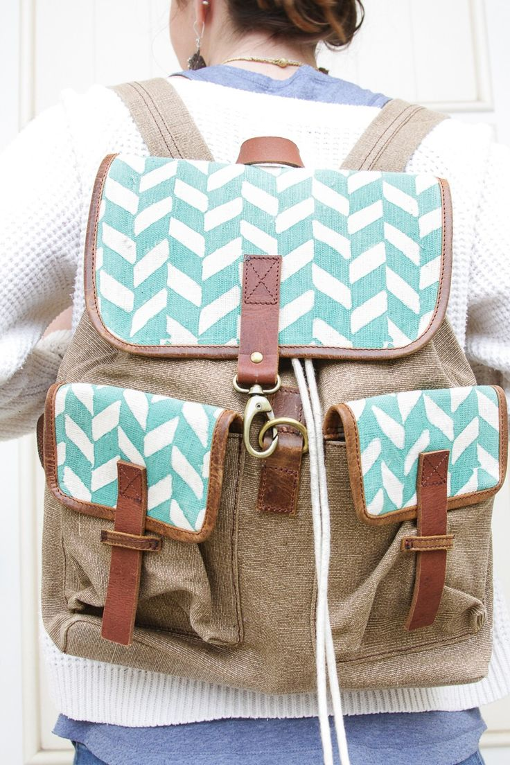 TO THE MARKET | Survivor Made Goods - Backpack - Mint Herringbone
