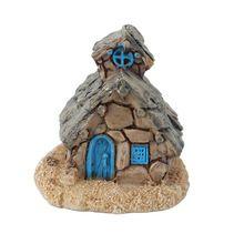 Micro Casa de Pedra Do Jardim de Fadas Em Miniatura Casa Paisagem Decoração Ornamento Resina Artesanato DIY(China (Mainland))