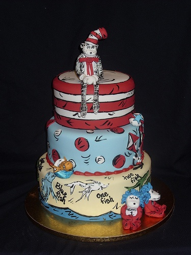 34 Best Cat In The Hat Cakes Images On Pinterest Dr