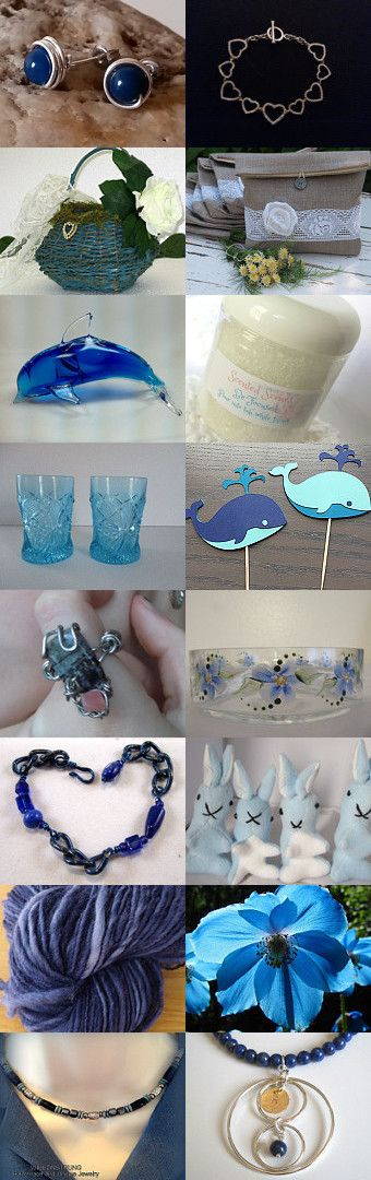 A little bit of blue by Lisa Astrup on Etsy--Pinned+with+TreasuryPin.com
