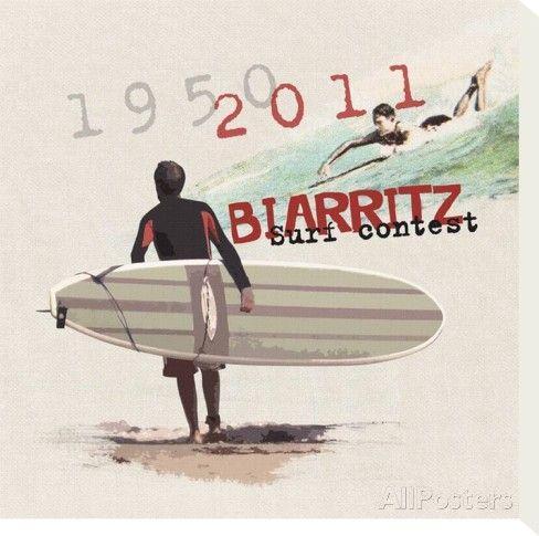 Biarritz Pays Basque Reproduction sur toile tendue