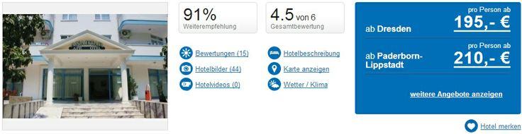 Urlaub: Frühbucher Türkei: 9 Tage im sehr guten 3 Sterne Hotel für nur 195€ - http://tropando.de/?p=4309