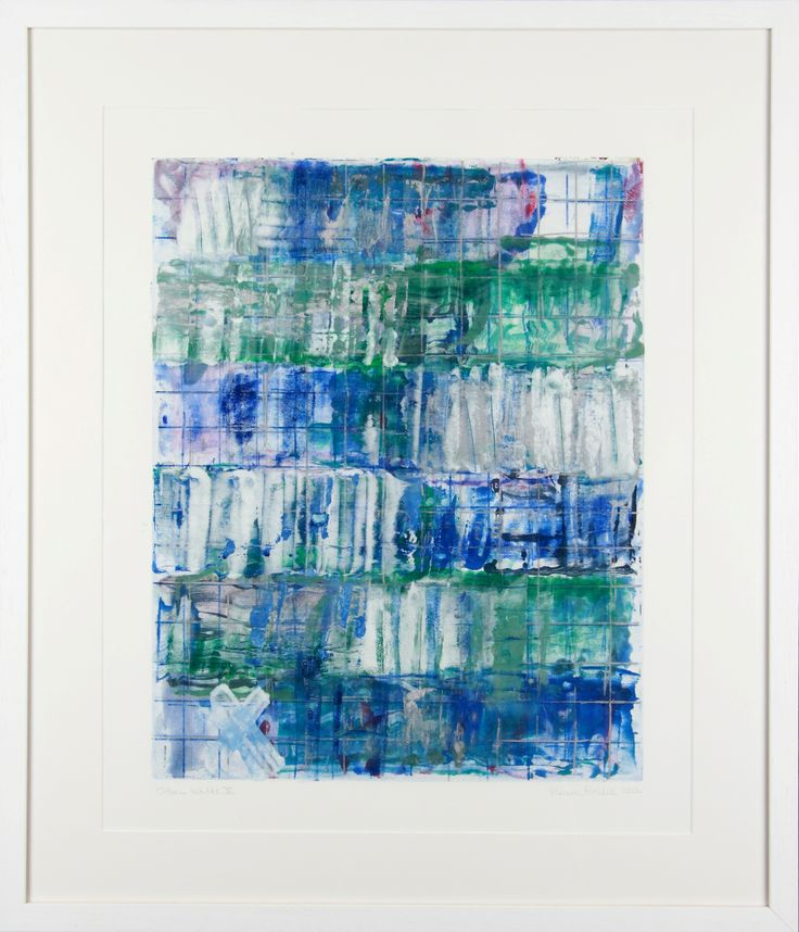 Monroe Hodder | Other Worlds X | Watercolour and Oil Monotype | 3- x 25 inches | £2,500