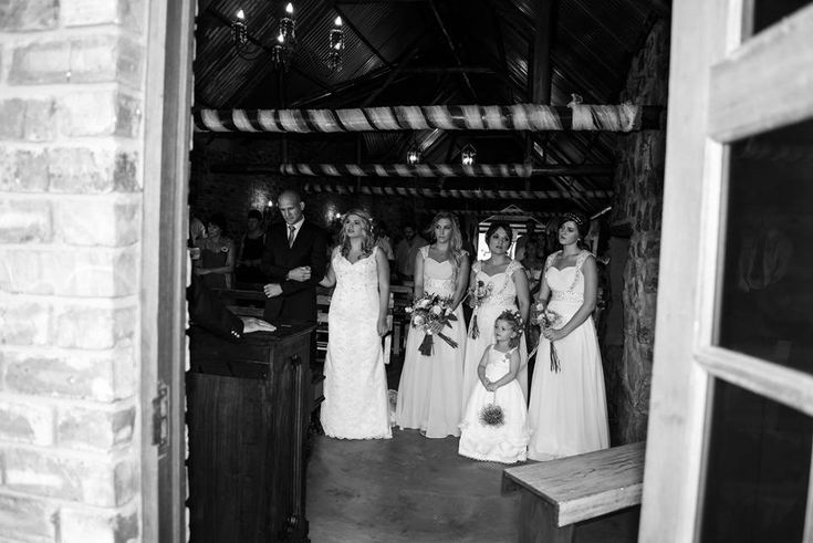 Ceremony - Bridal party - Black & White - Farmwedding- Plaastroue - #Burgertroue #12March2016
