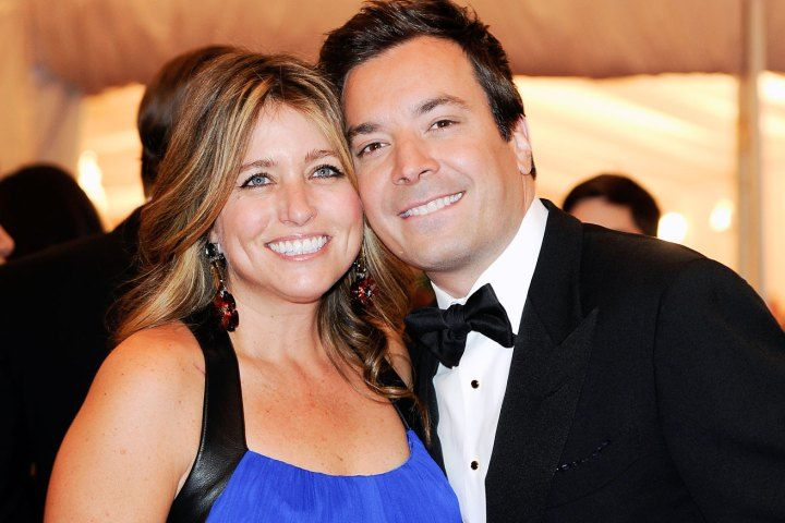 Jimmy Fallon and his wife, Nancy Juvonen, at the Metropolitan Museum of Art in New York, May 7, 2012. Fallon says he and his wife had their baby daughter with the help of a surrogate.
