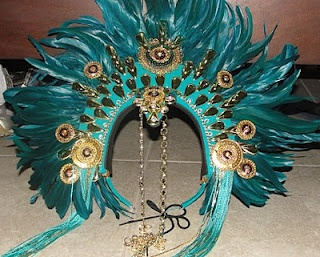 Trinidad Carnival: Mayan Eagle headress