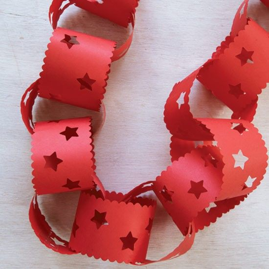 Decorative paperchains | How to make Christmas decorations - 10 papercraft ideas | housetohome.co.uk