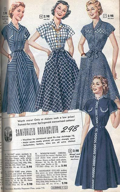 Mar 23, 2020 – 1950s Dresses: From a 1953 catalog #vintage #1950s #dresses #fashion