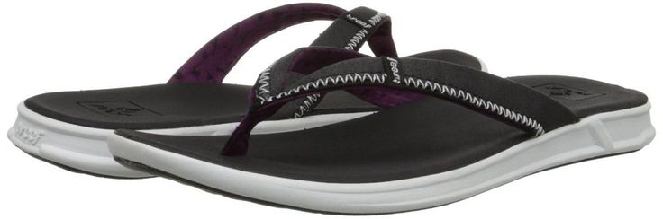Reef Women's Reef Rover SL Flip Flop, Black/White, 9 M US. Introducing Swellular Technology: Comfort; Support: Traction. Comfort: Super soft contoured foam footbed for instant comfort. Reef Rover SL Sandal/Flip Flops/Slipper Footwear for Women. Support: Medium density molded foam midsole for long-lasting support. Breathable jersey. Padded for support. Classic toepost construction.
