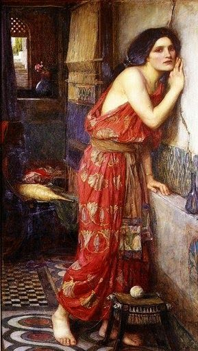 "Pre Raphaelite Art: ""Thisbe"" by John William Waterhouse (1909)"