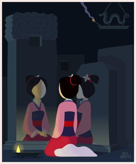 Śliczny GIF z Mulan! Ubierz postacie z bajek na ubieranki.eu
