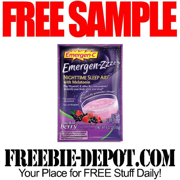 FREE SAMPLE – Emergen-Zzzz Nighttime Sleep Aid with Melatonin – FREE Sample Packet by Mail  #freesample