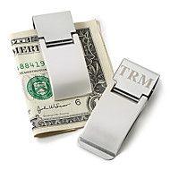 Gift+Groomsman+Personalized+Silver+Metal+Money+Cl...+–+DKK+kr.+23
