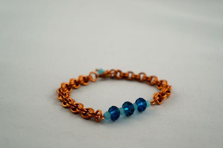 Copper beaded bracelet #handmade #custom #oneofakind