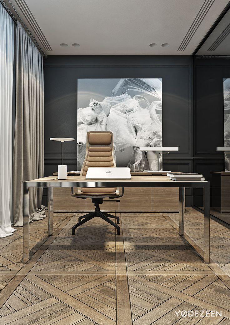 Residence in lviv on behance 299 pinterest office for Office setup ideas