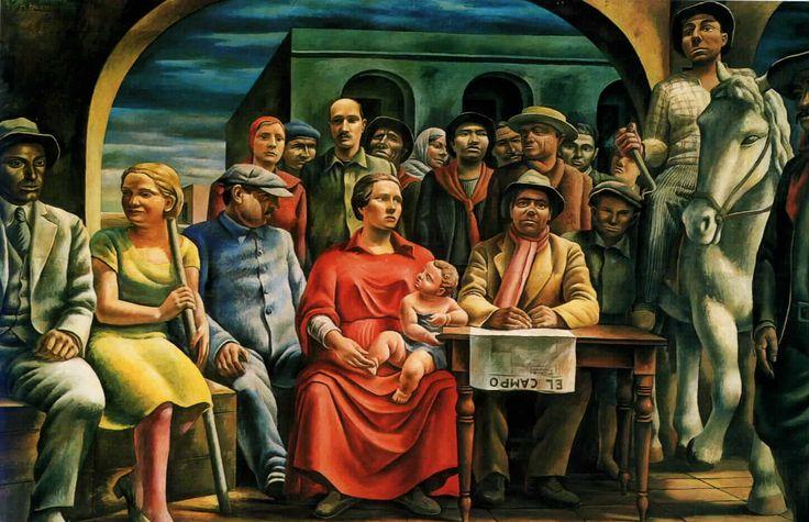 Antonio #Berni #murales - #Argentina #Art #painting