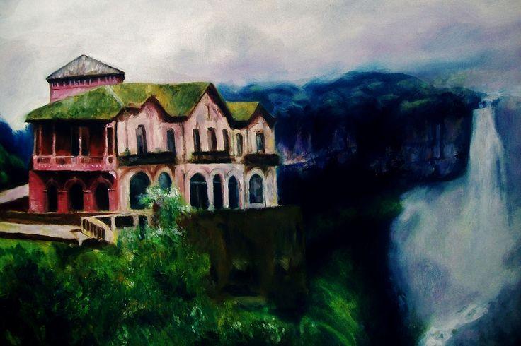 Pintura oleo sobre lienzo, salto de tequendama Bogota Colombia https://flic.kr/p/RwsqC8 | 29436981425_c5a6737277_o