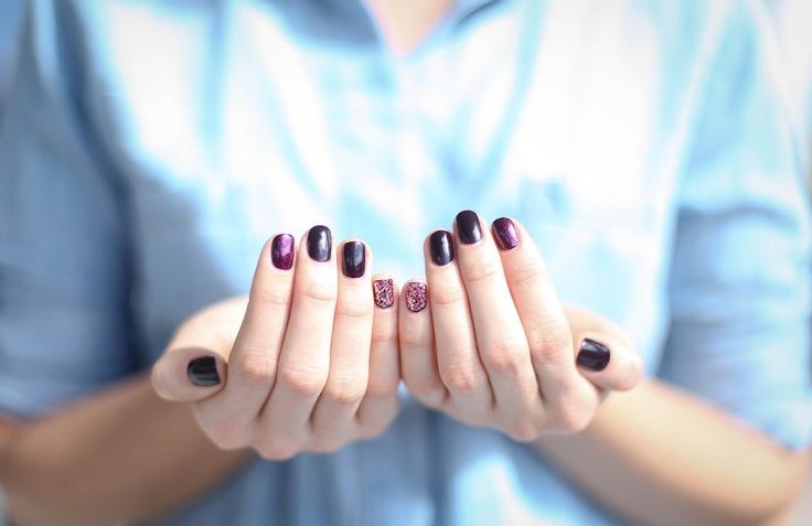 deborah lippmann and essie nail polish..love the colour combination