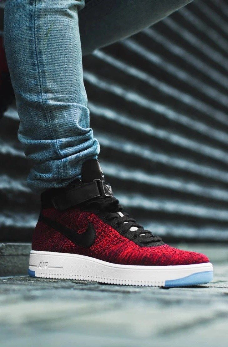 08e413a24481 Nike Air Force 1 Ultra Flyknit  Red Black
