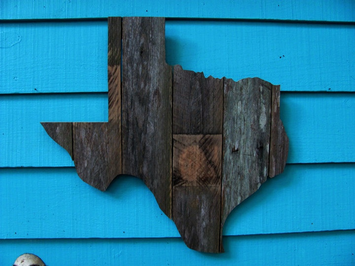 Your favorite state made of old fence wood by JohnBirdsong on Etsy. $28.00, via Etsy.
