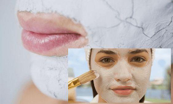 Masque facial avec du bicarbonate de soude et du vinaigre