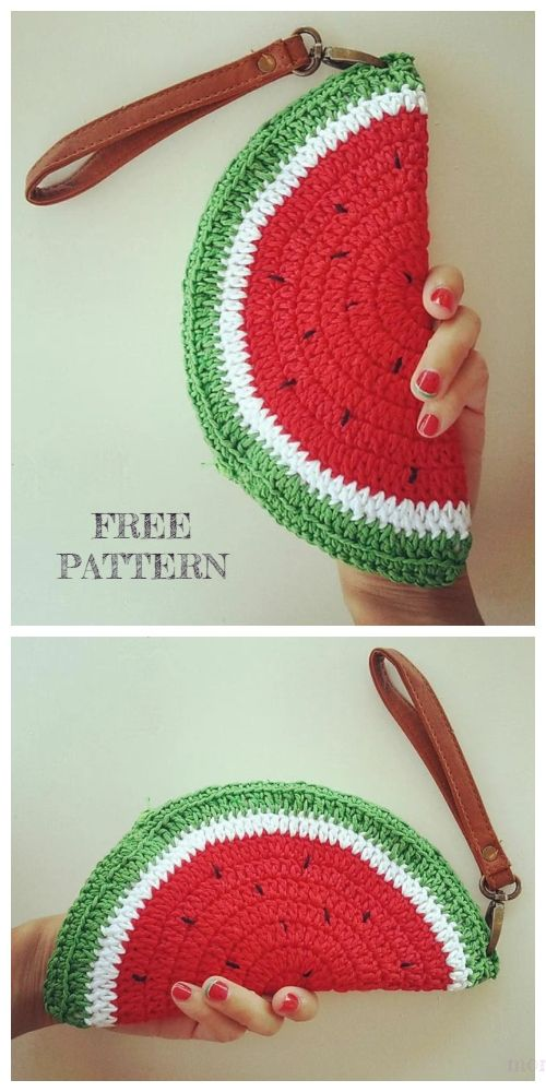 Watermelon Clutch Free Crochet Patterns
