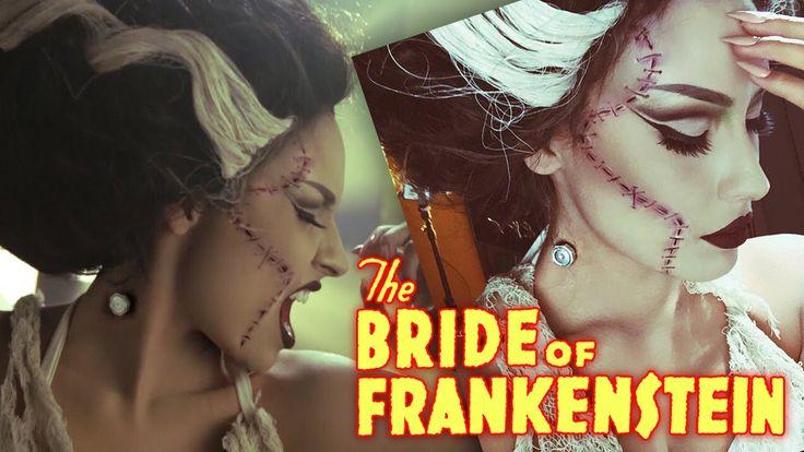 Bride Of Frankenstein Halloween tutorial