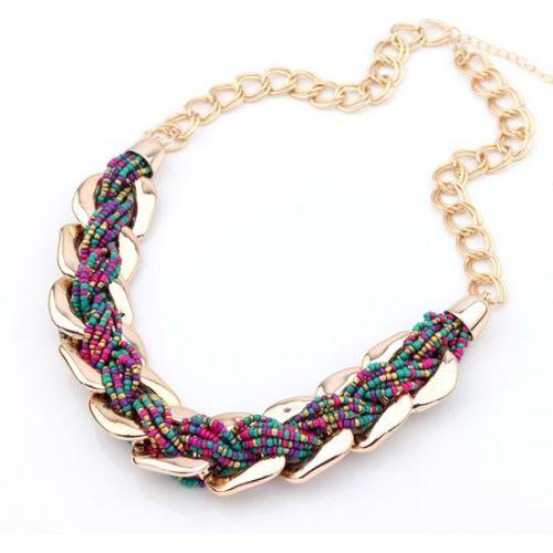 collar cadenas- chaquira
