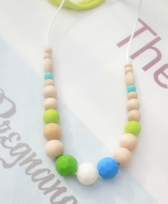Food Grade Silicone Teething Necklace Nursing Babywearing Necklace