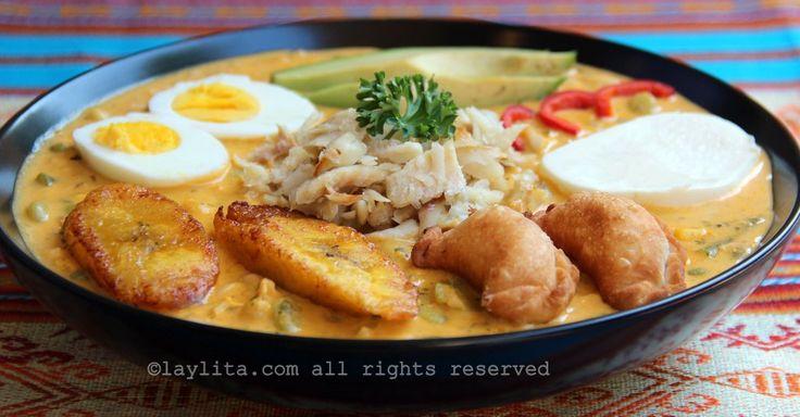 Receta para preparar la deliciosa fanesca ecuatoriana. Esta sopa ecuatoriana se come durante la Cuarerma y Semana Santa, lleva bacalao, legumbres, granos, mani, y mas.