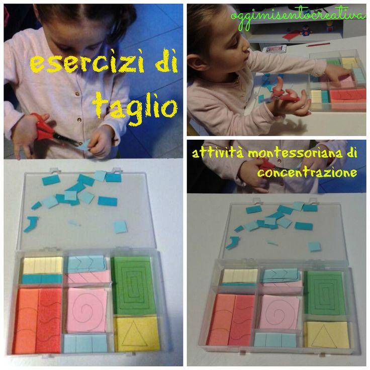 Oggi mi sento creativa: Esercizi di taglio-attività Montessori