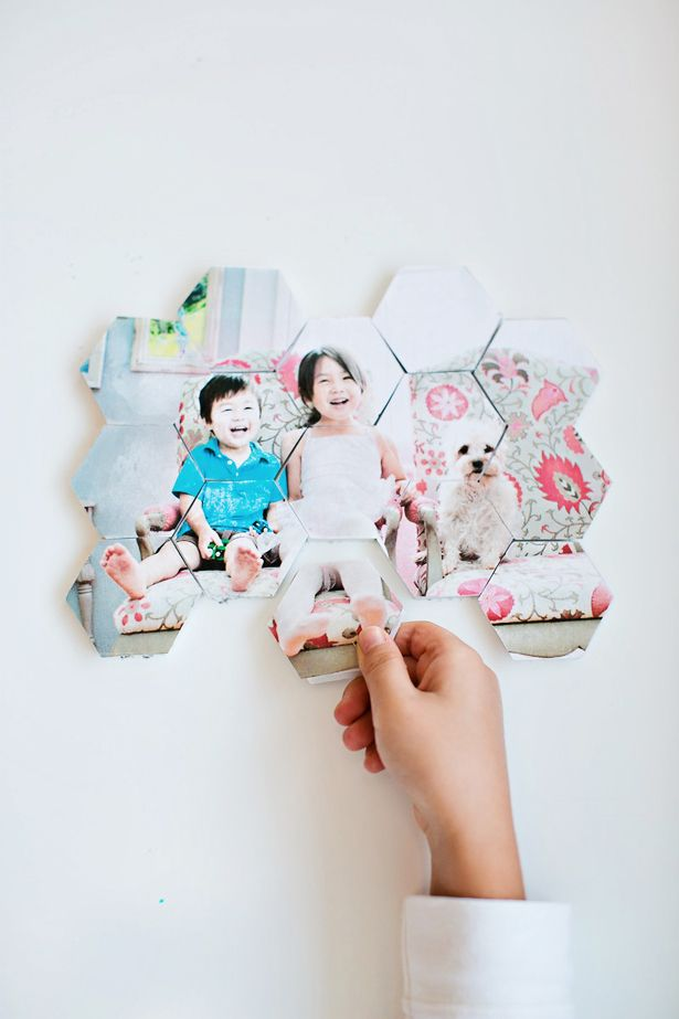 make a DIY photo hex puzzle
